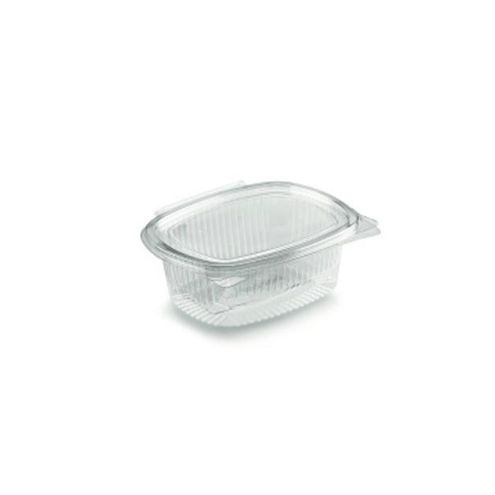 Contenitore ovale monouso per alimenti in PET trasparente lt 0,5