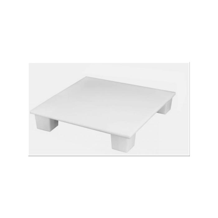 Pallet igienico per alimenti MC polipropilene 80x60cm bianco HACCP