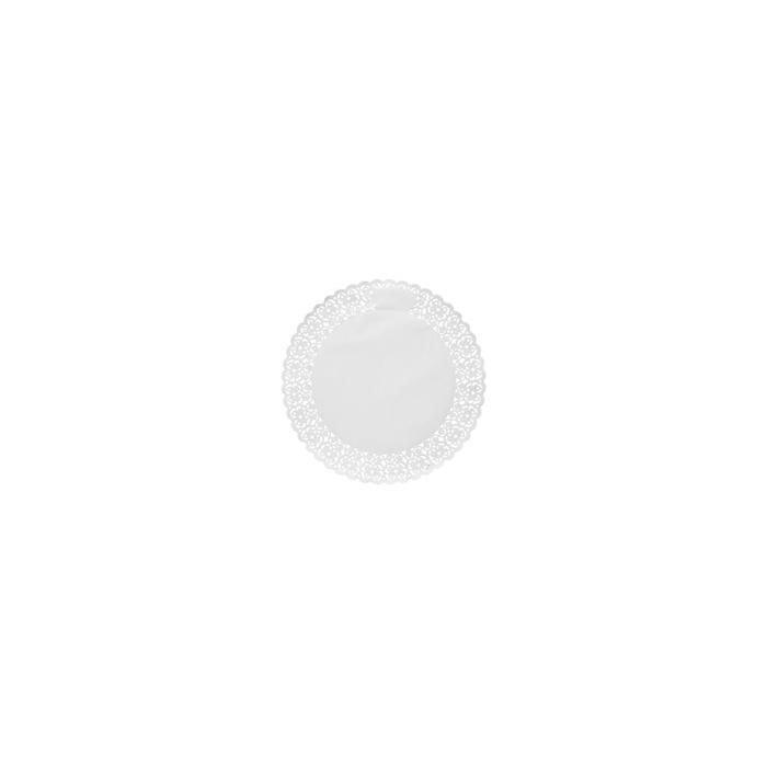 Pizzi tondi in carta bianca cm 10