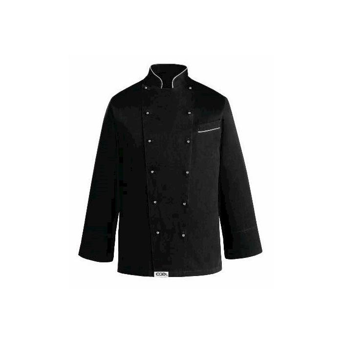 Giacca cuoco Black Egochef taglia XXL manica lunga nero