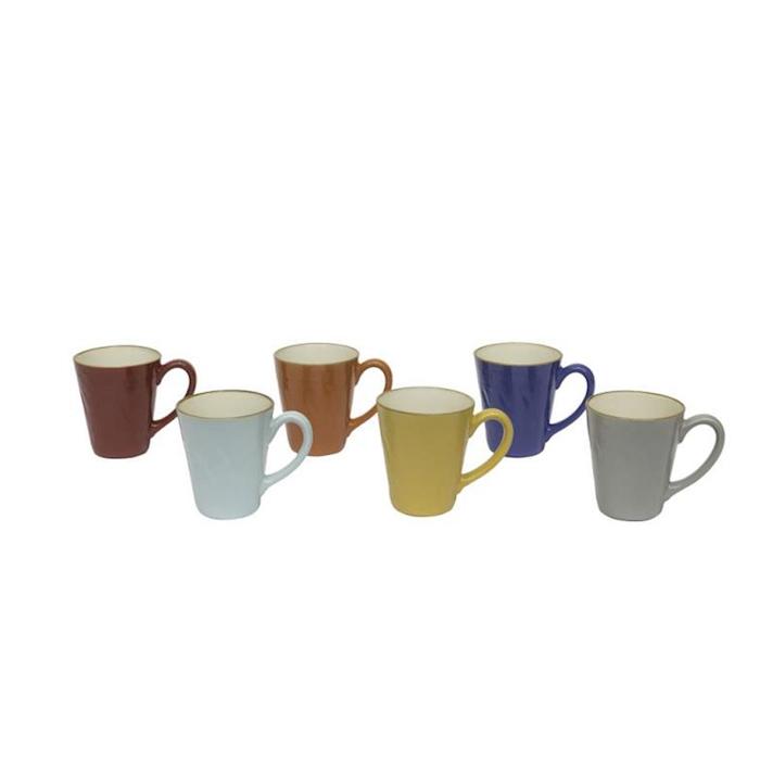 Tazza mug Mediterraneo in ceramica colorata cm 9,5x11