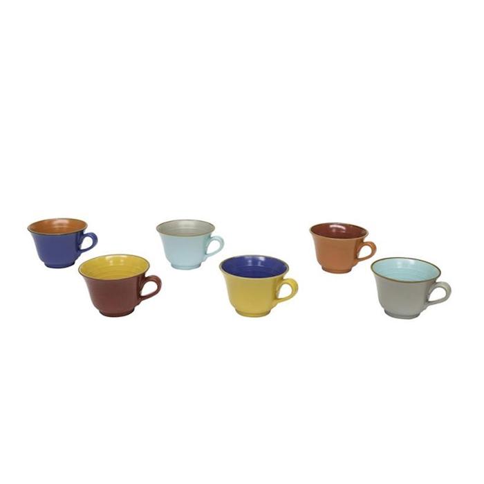 Tazza colazione Mediterraneo in ceramica colorata cm 13