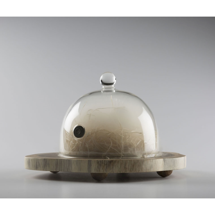 Campana Rubì con valvola 100% Chef in vetro cm 18