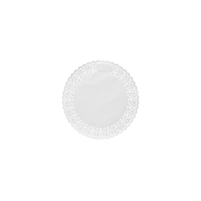 Pizzi tondi in carta bianca cm 20