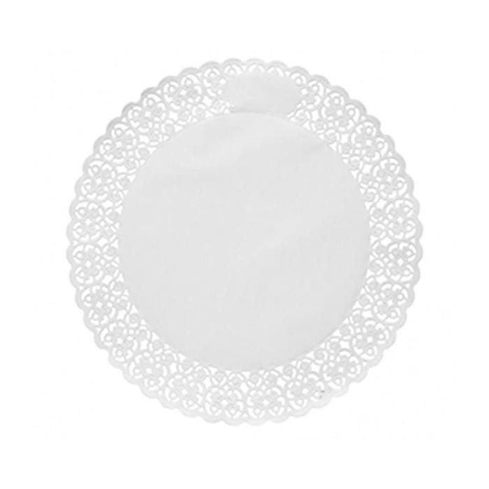 Pizzi tondi in carta bianca cm 37