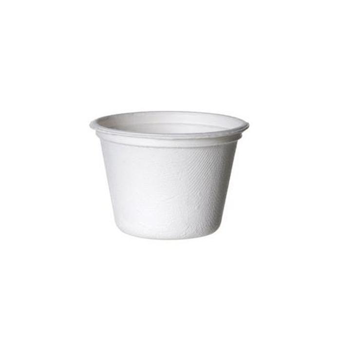 Coppetta contenitore monouso per soupe zuppa in polpa 35 cl