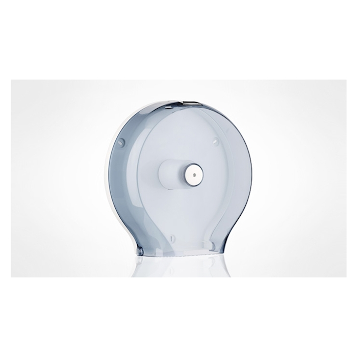 Porta rotoli di carta igienica in plastica trasparente con posacenere 32 cm