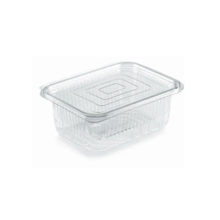 Contenitore rettangolare monouso per alimenti in PET trasparente lt 0,5