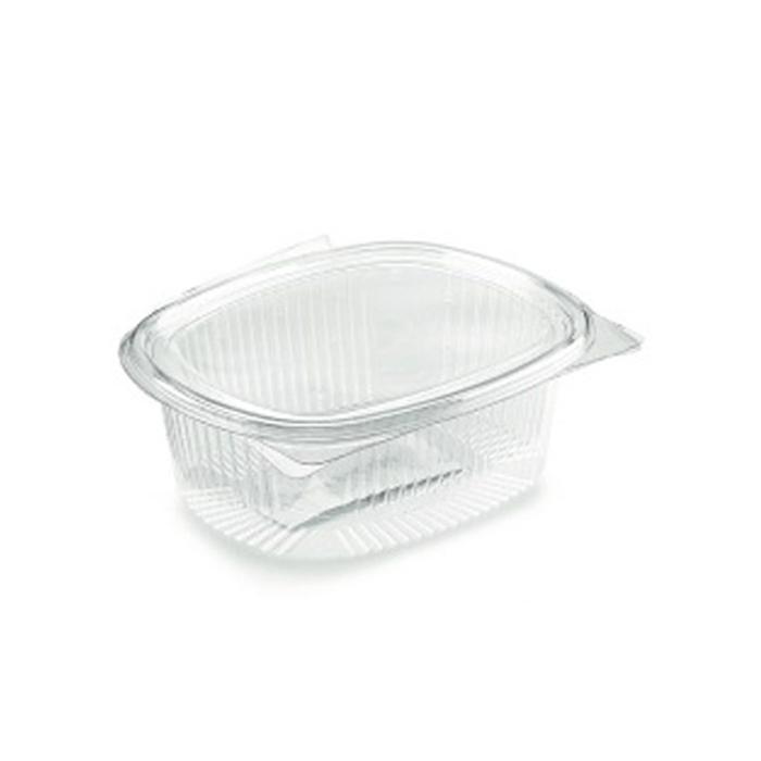 Contenitore ovale monouso per alimenti in PET trasparente lt 1