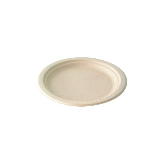 Piatti monouso in polpa di cellulosa - piatto piano 25 cm