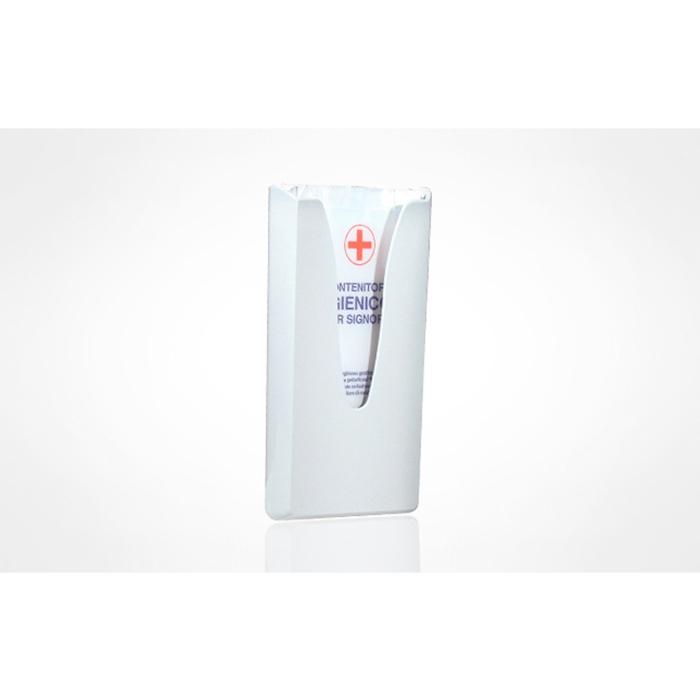 Porta sacchetti igienici in plastica bianco