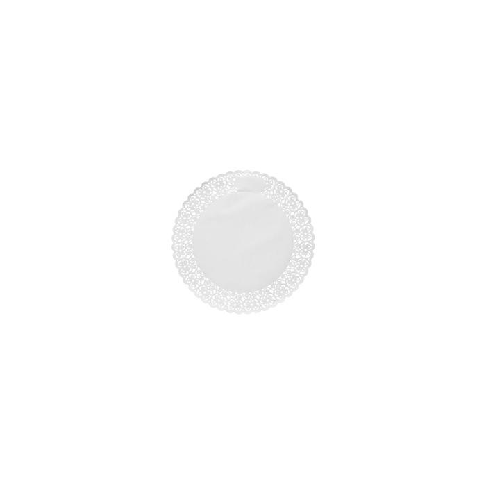 Pizzi tondi in carta bianca cm 12