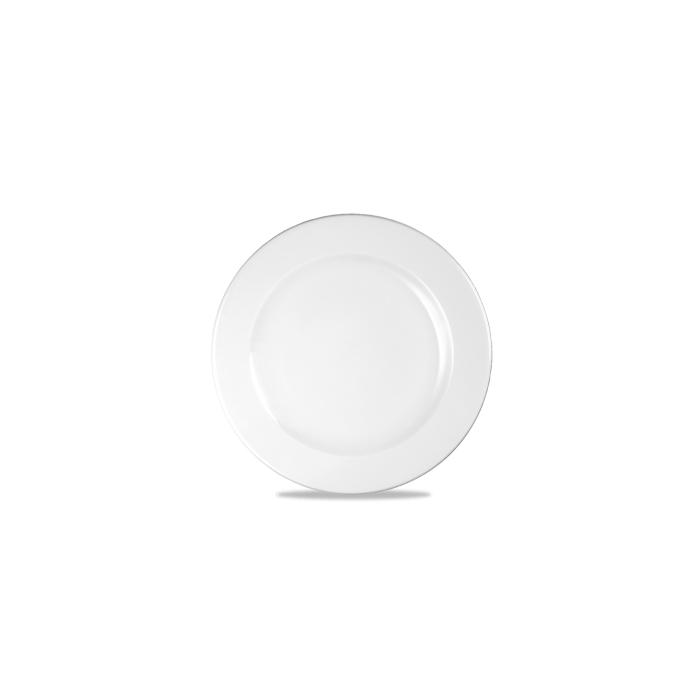Piatto piano Linea Profile Churchill in ceramica vetrificata bianco cm 21