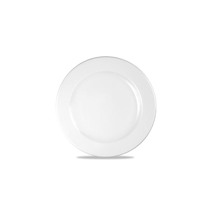 Piatto piano Linea Profile Churchill in ceramica vetrificata bianco cm 26,1
