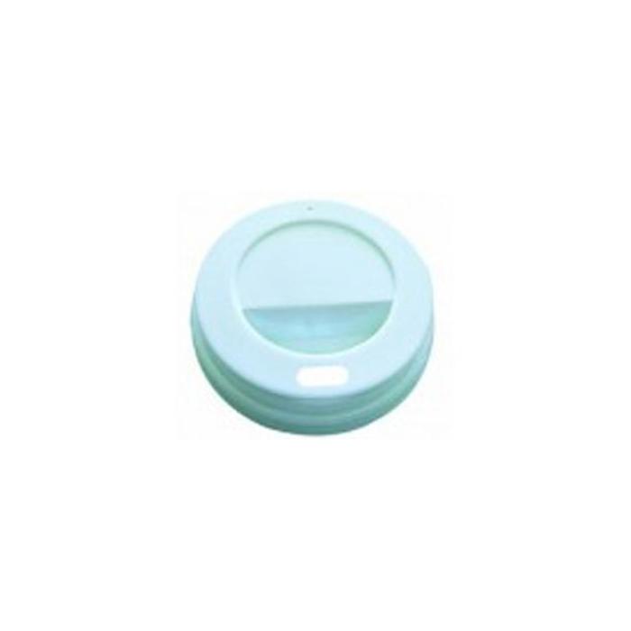 Coperchio monouso bianco con foro cm 8