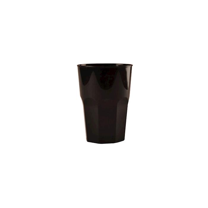 Bicchiere cocktail in polipropilene nero cl 35