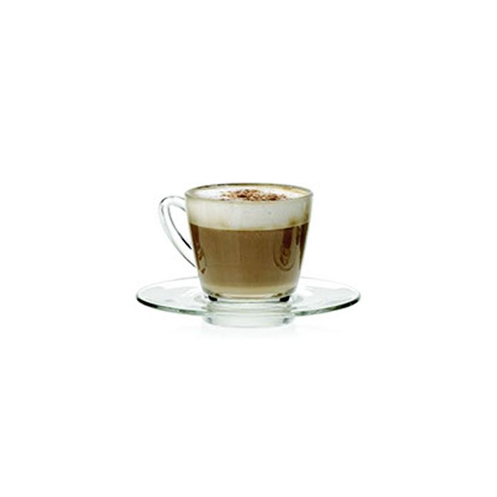 Piatto per tazza da cappuccio kenya in vetro cm 15
