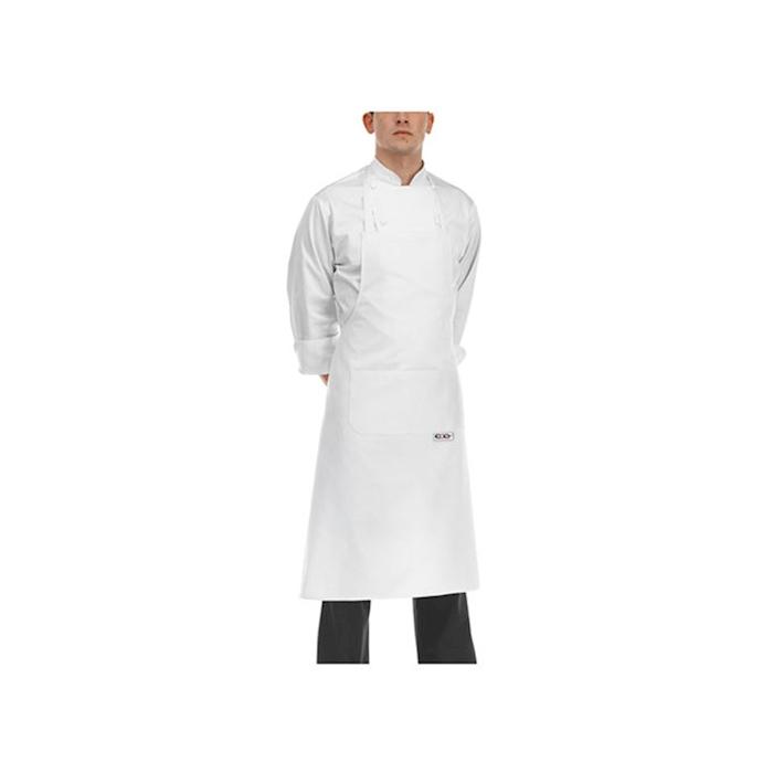 Grembiule con pettorina e tascone Egochef bianco cm 90x70