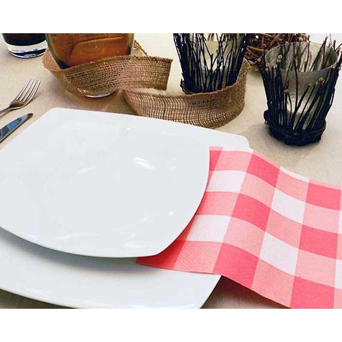 Tovaglioli Osteria in airplus rosso cm 40x40