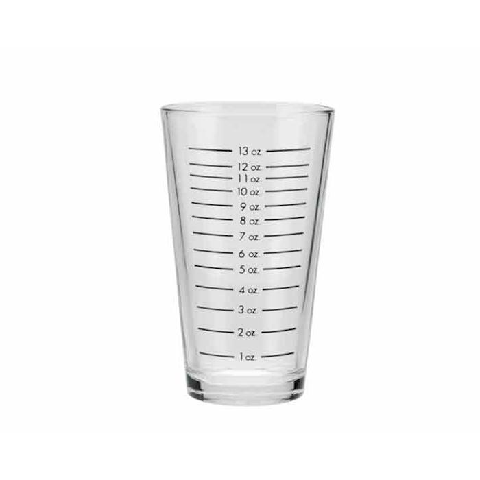 Bicchiere vetro graduato per boston