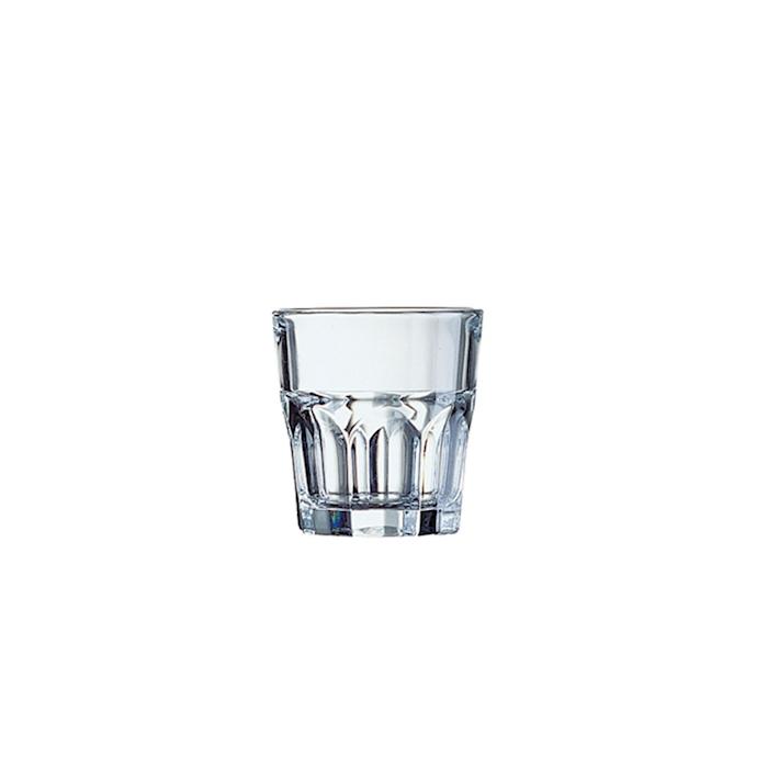 Bicchiere granity impilabile in vetro trasparente cl 16