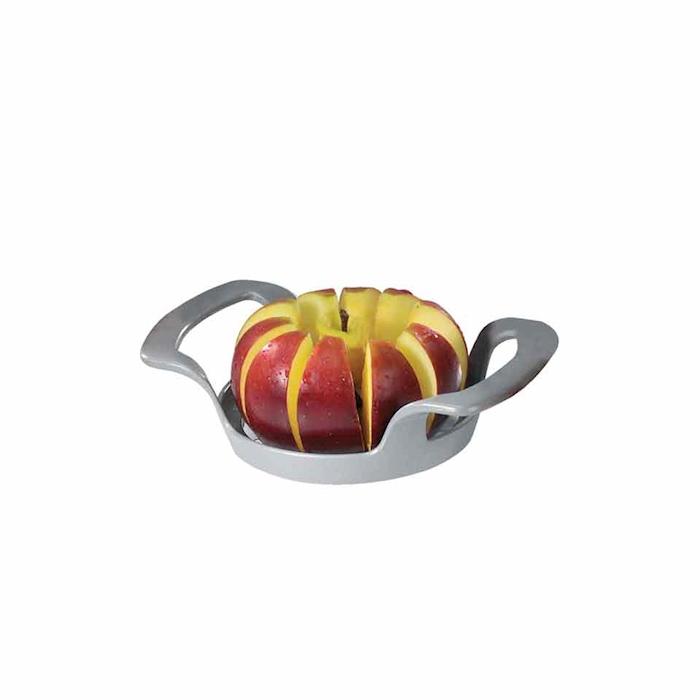 Trancia spicchi affetta mela lame acciaio inox