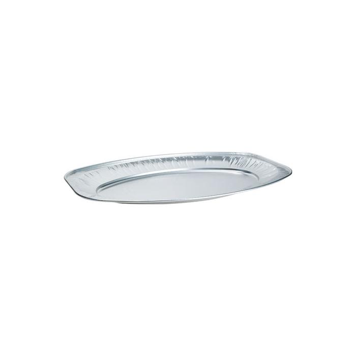 Vassoio ovale da servizio monouso Duni in alluminio cm 44x29