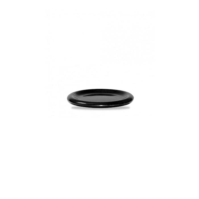 Coperchio/piatto Bit on the Side Churchill in ceramica vetrificata nera cm 14,6