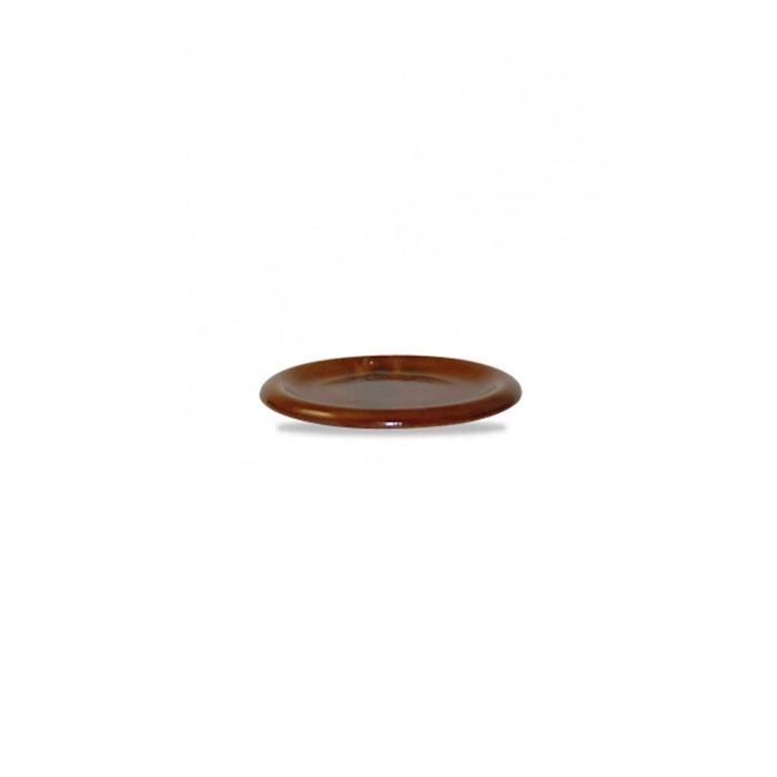 Coperchio/piatto Bit on the Side Churchill in ceramica vetrificata marrone cm 14,6
