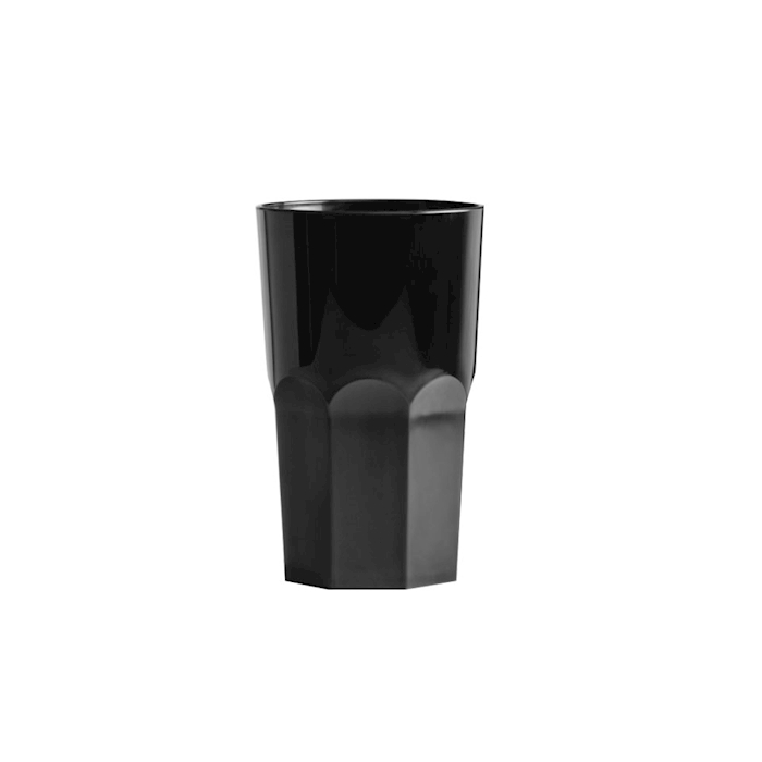 Bicchiere policarbonato Granity nero 1,8 lt