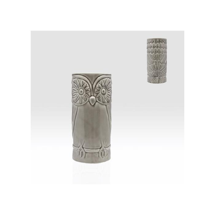 Tiki mug totem ceramica gufo grigio cl 50