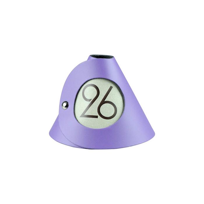Segnaposto Fashion Dag style pelle rigenerata lilla nr 21-30