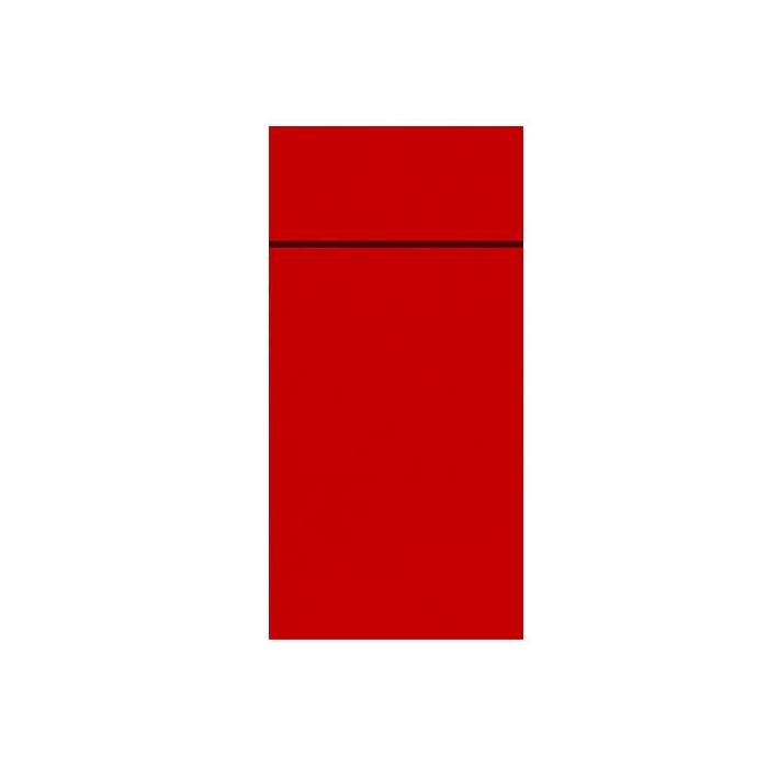 Tovagliolo portaposate Slim Duni in carta Dunisoft rossa cm 40x33