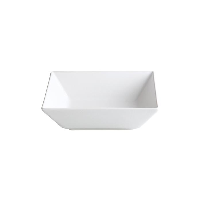 Piatto fondo Ming II in stoneware bianco cm 17x17x5