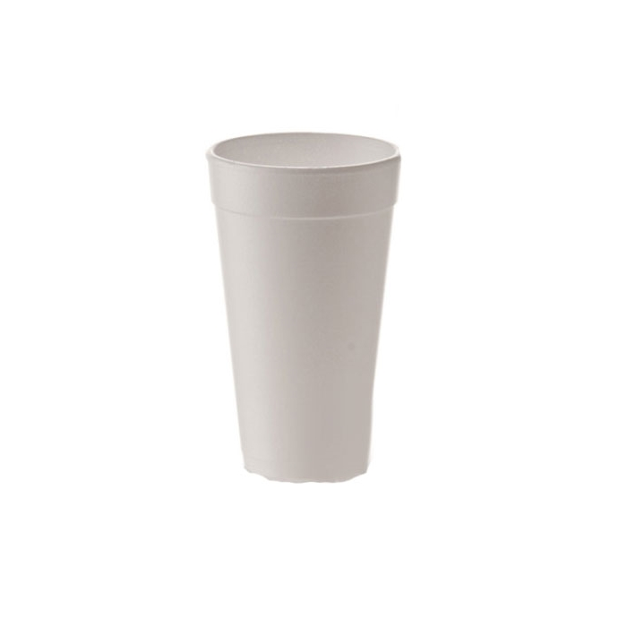 Bicchiere monouso bibita e cappuccio in polistirolo termico 51 cl bianco
