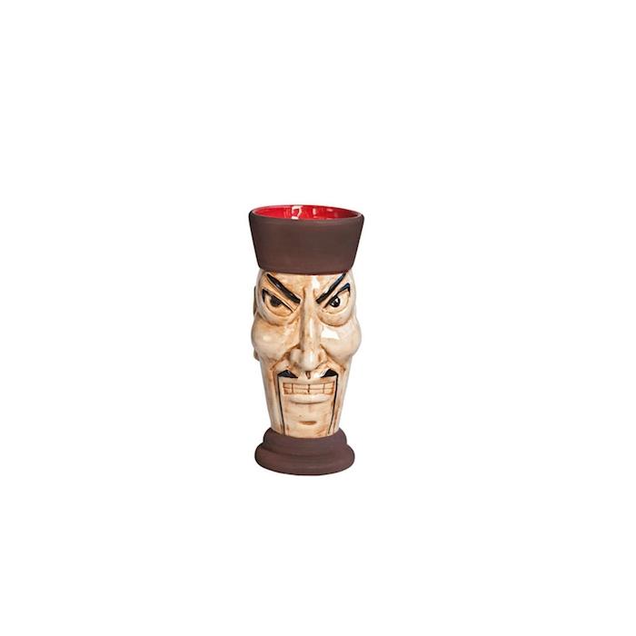 Tiki mug Fu Manchu ceramica 360ml beige/marrone