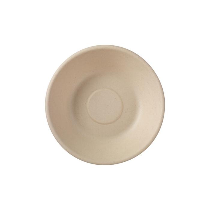 Piatto piano tondo monouso Duni in polpa di cellulosa marrone cm 16