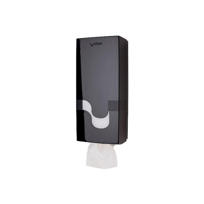 Dispenser Megamini per carta igienica in plastica nera