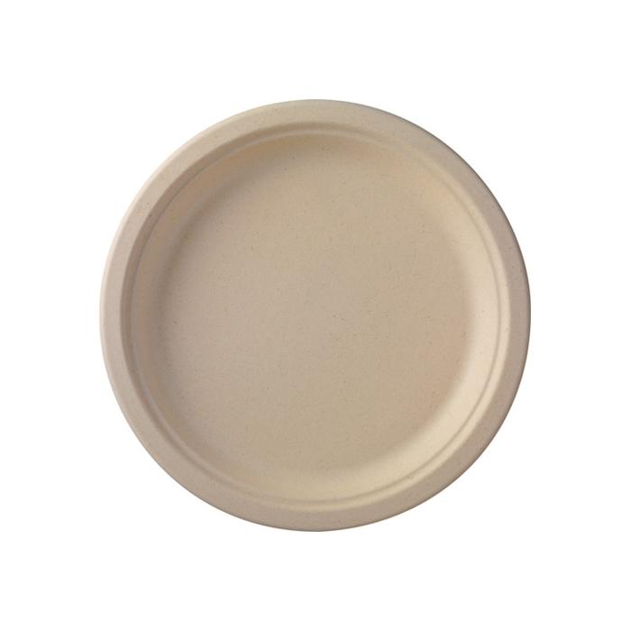 Piatto piano tondo monouso Duni in polpa di cellulosa marrone cm 26