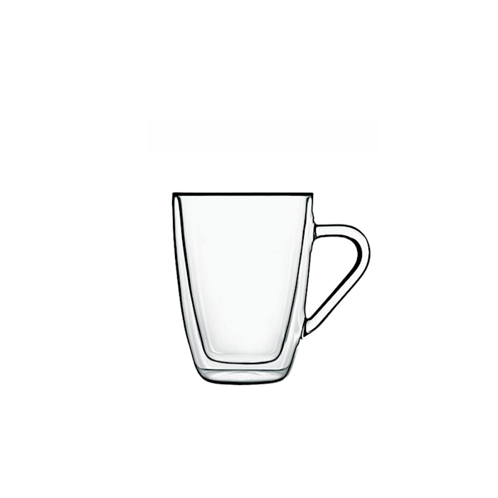 Bicchiere Hot Drink termico Luigi Bormioli in vetro cl 32