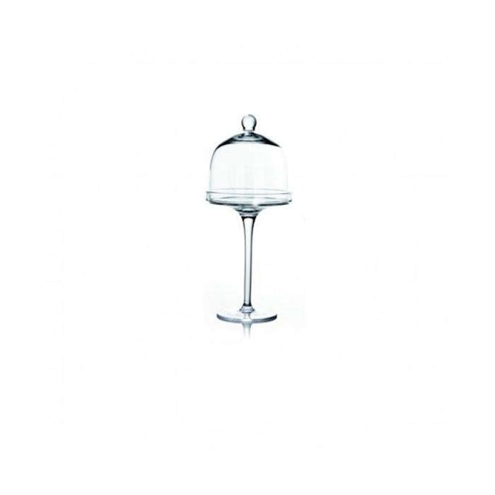 Alzata con cupola Empire in vetro cm 27x11,5