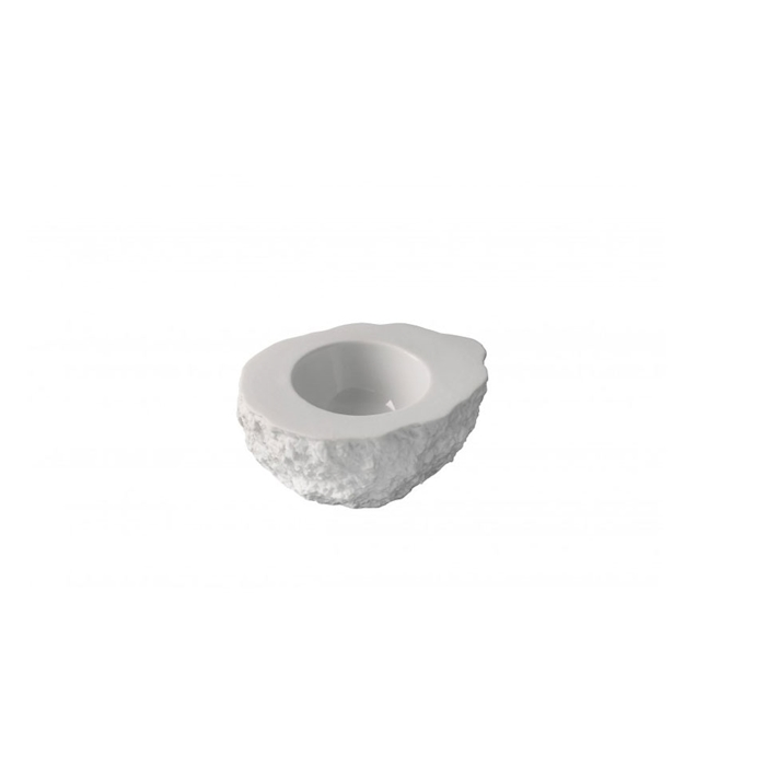 Coppetta Mediterraneo Roca XL 100% Chef in porcellana bianca cm 4x5