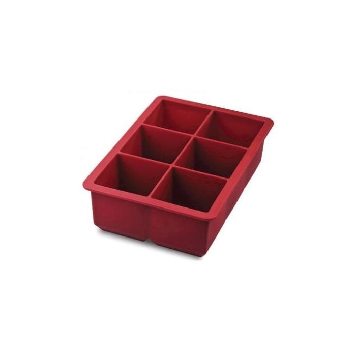 Stampo ghiaccio king cube rosso cm 16,3x11,3x5