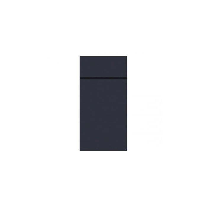 Tovagliolo portaposate Slim Duni in carta Dunisoft nera cm 40x33