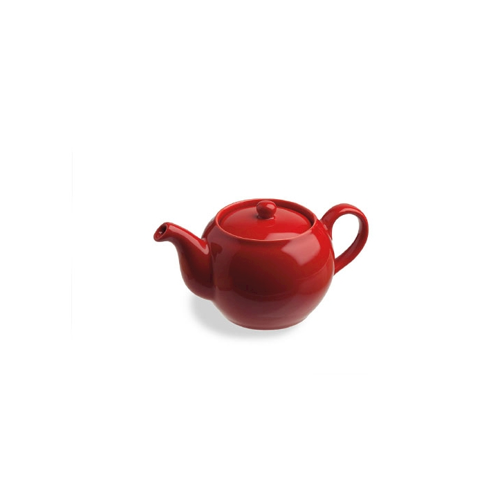 Teiera Sphere Tognana in porcellana rossa cl 25