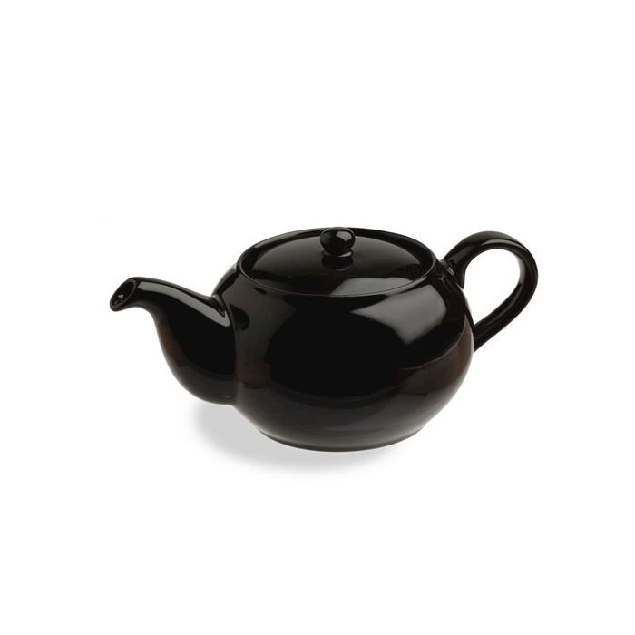 Teiera Sphere in porcellana nera cl 47