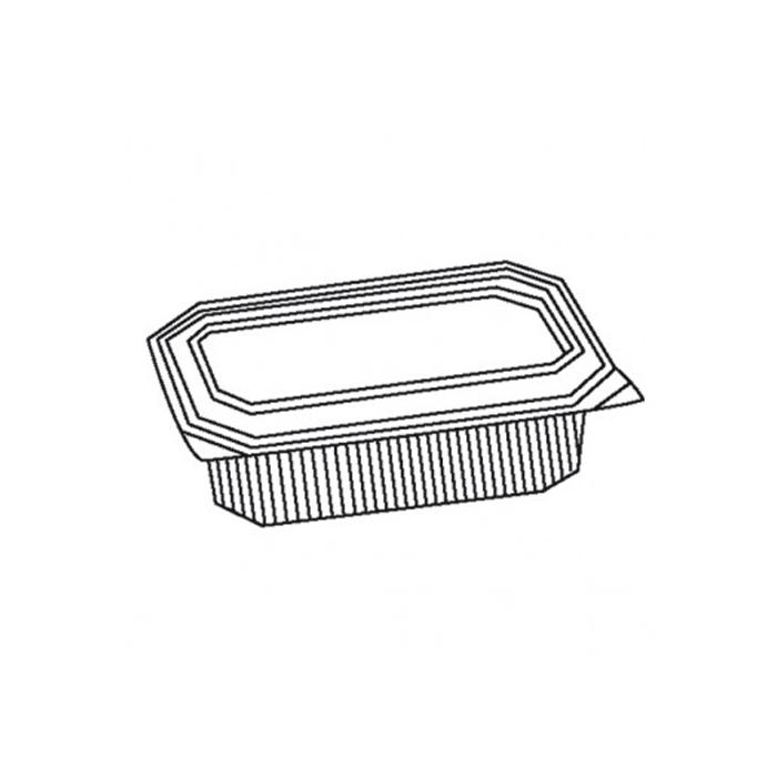 Contenitore rettangolare asporto micronde in polipropilene trasparente cm 22,5 x 15,5