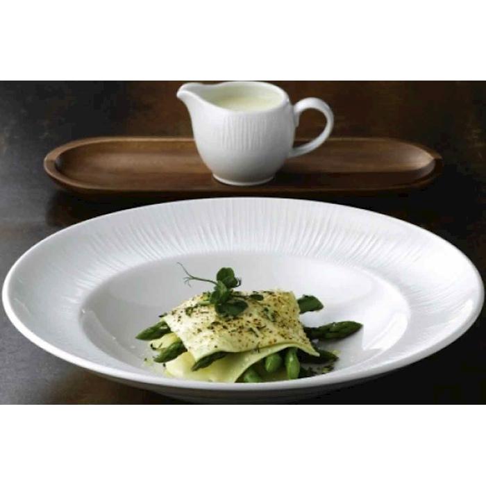 Piatto pasta Bowl Bamboo Churchill in ceramica vetrificata bianca cm 28