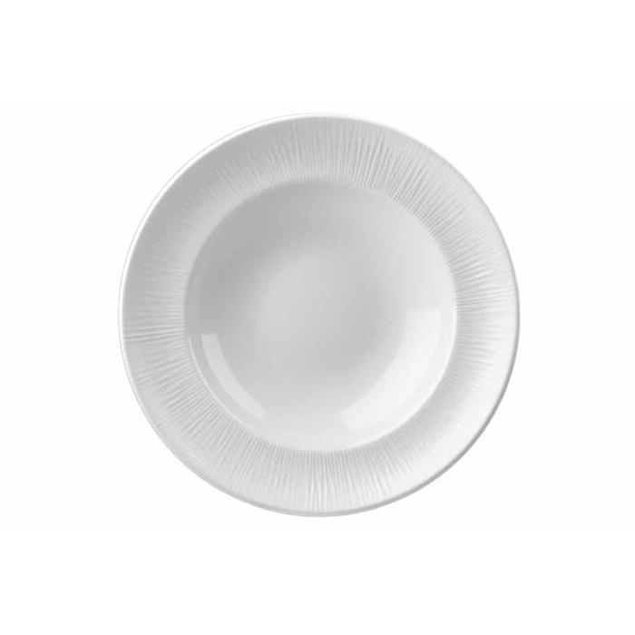 Piatto pasta Bowl Bamboo Churchill in ceramica vetrificata bianca cm 30,8