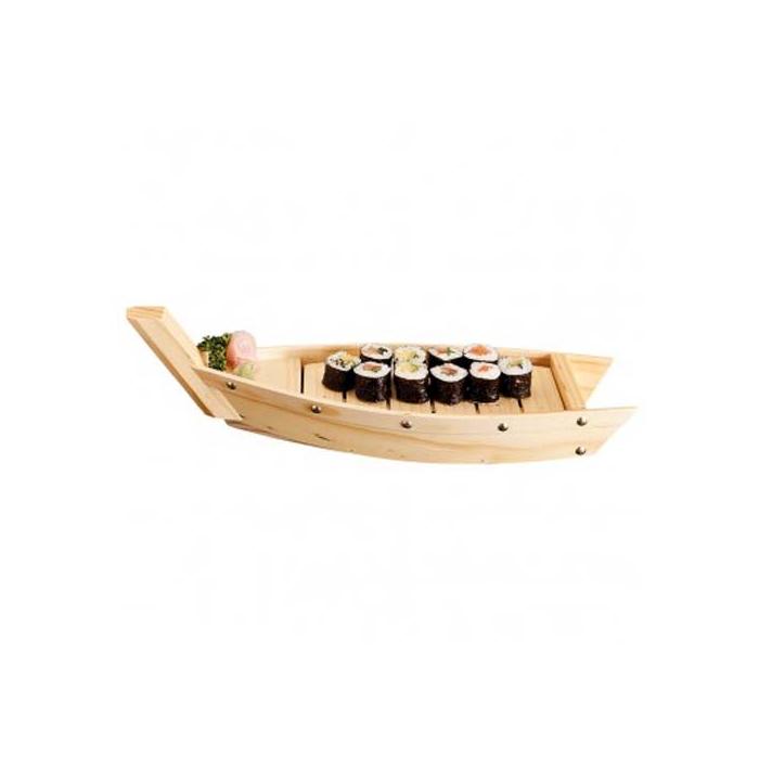 Barca Sushi in legno cm 44x13x11